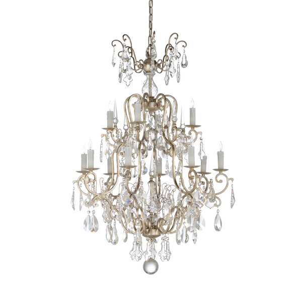 Versailles 12-Light Candle Style Tiered Chandelier by Wildwood Wildwood