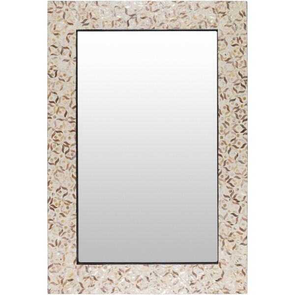 Kroeker Rectangle Brown MDF Wall Mirror by Bungalow Rose