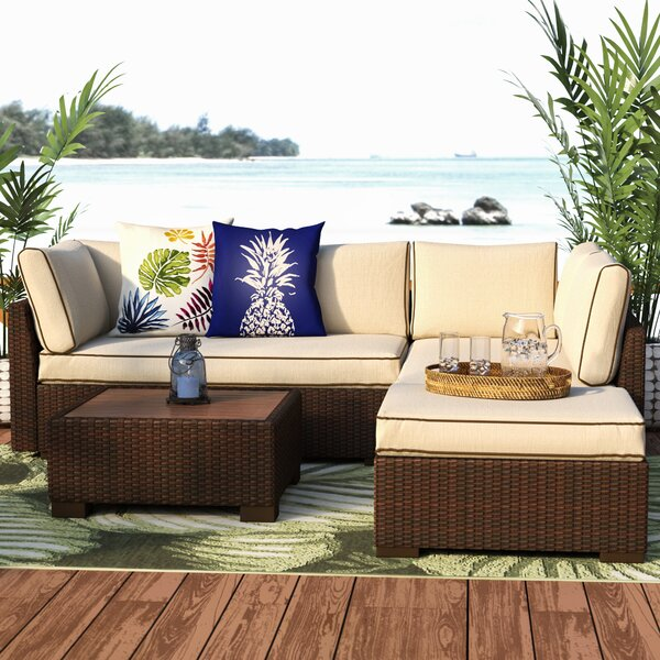 Grande 4 Piece Sectional Set with Cushions by Bay