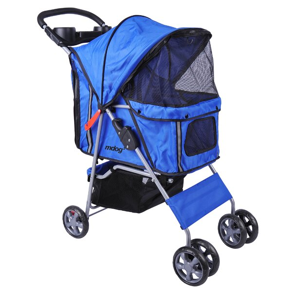 4-Wheel Front & Rear Entry Pet Stroller by MDOG2