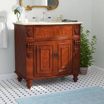 Wrought Studio Leena 23 Single Bathroom Vanity Set With Mirror Wayfair