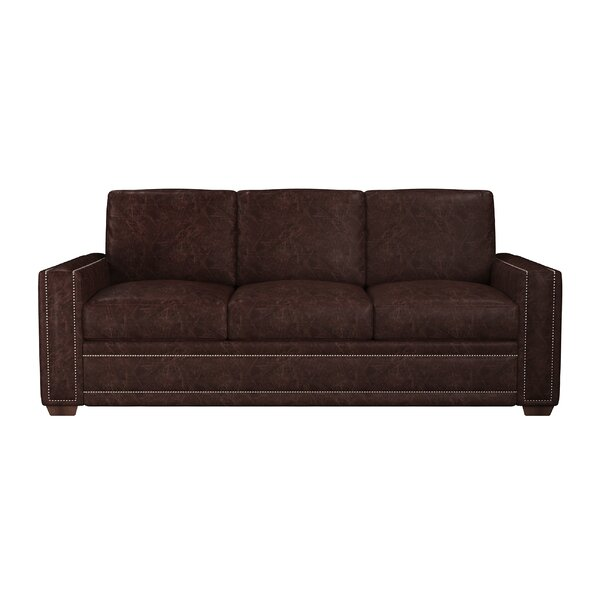 Dallas Leather Sofa Bed by Westland and Birch