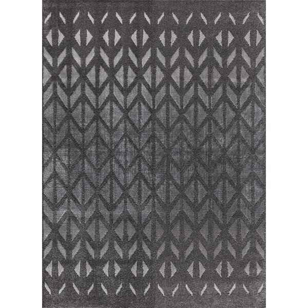Desdemona Charcoal Area Rug by Ebern Designs