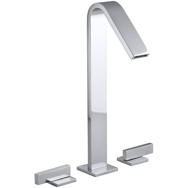 Loure Tall Widespread Bathroom Sink Faucet by Kohler
