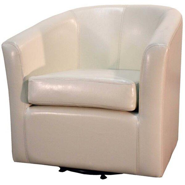 Teesha Swivel Barrel Chair by Orren Ellis