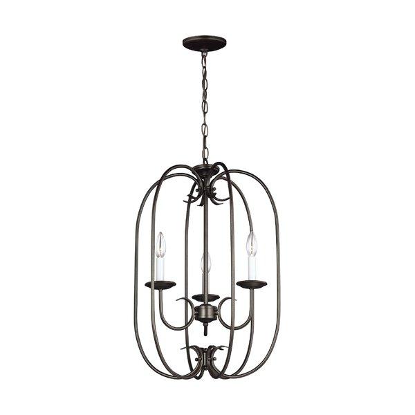 Buren 3 - Light Lantern Geometric Chandelier By Darby Home Co