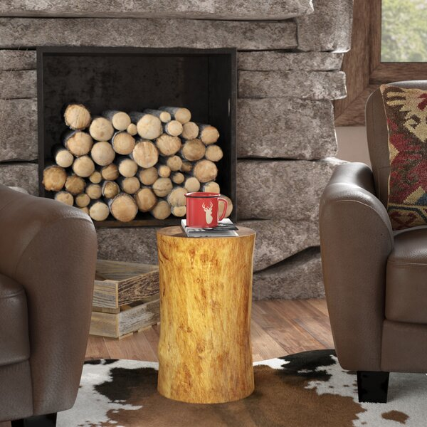Oak Hill Stump End Table by Loon Peak