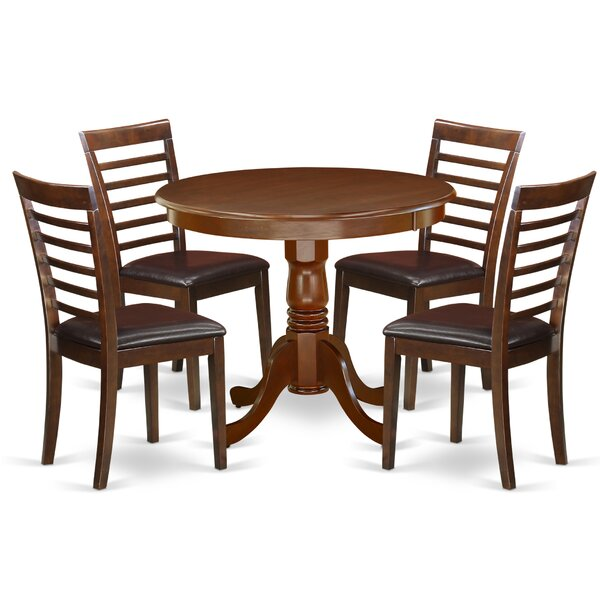 Schipper 5 Piece Solid Wood Dining Set by Charlton Home Charlton Home
