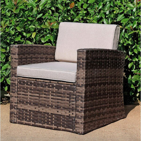 Shmuel Patio Chair with Cushions by Highland Dunes