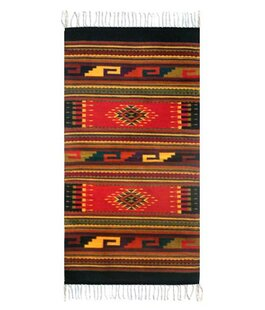 Affordable Weare Ancestral Hand-Woven Wool Red/Black Area Rug By Millwood Pines