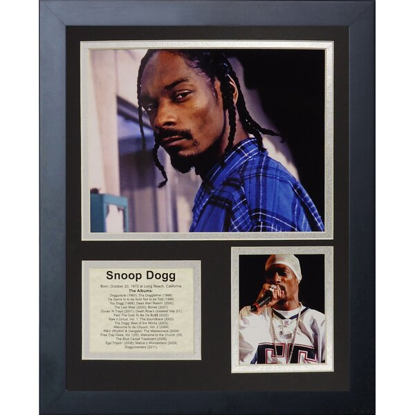 Snoop Dogg Framed Memorabilia by Legends Never Die