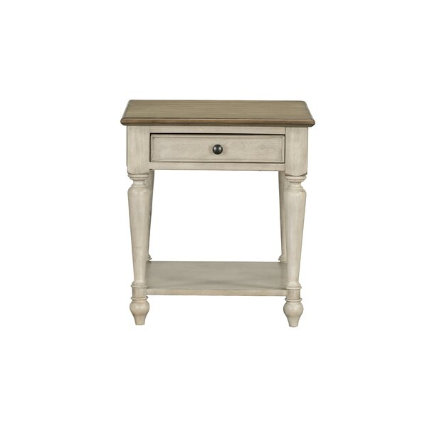 Bluxome End Table with Storage by August Grove