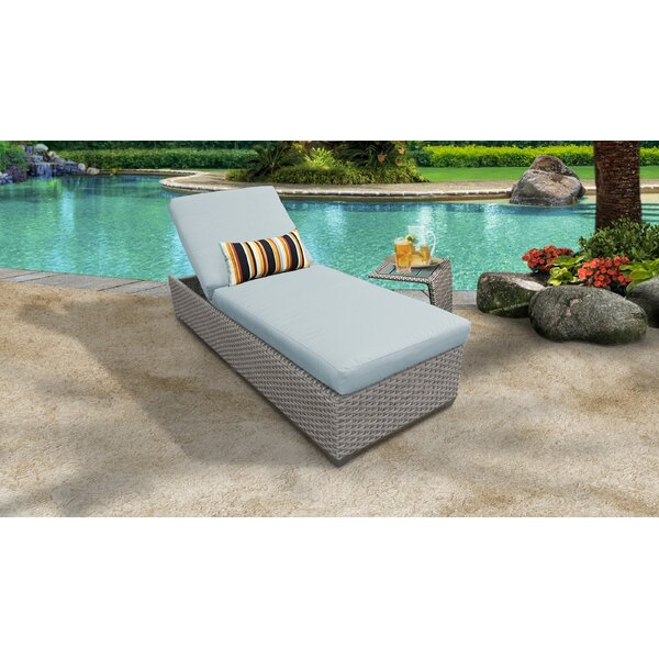 Rochford Outdoor Chaise Lounge with Cushion and Table by Sol 72 Outdoor