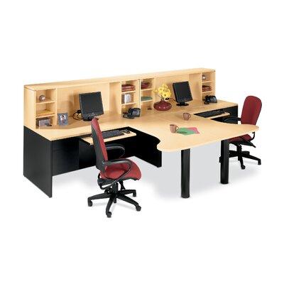 10500 Series 72 W Large Left Single Pedestal Office Desk HON