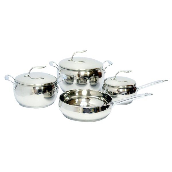 Stainless Steel 7 Piece Cookware Set by Gourmet Chef
