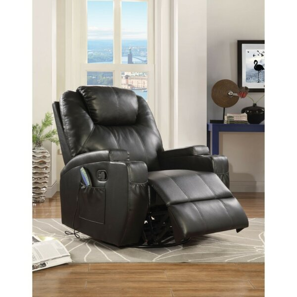 Munden Upholstered Manual Swivel Rocker Recliner