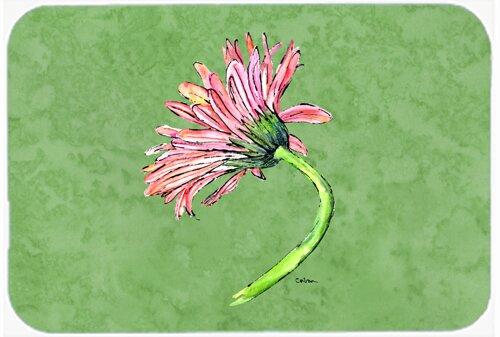 Gerber Daisy Pink Rectangle Non-Slip Floral Bath Rug