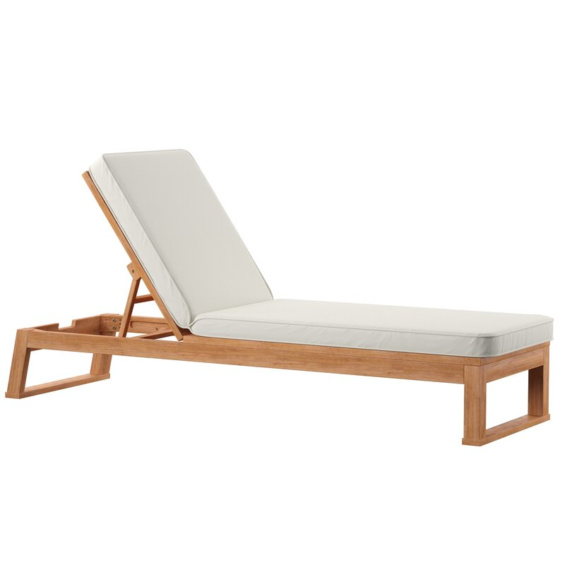 Faunce Reclining Chaise Lounge with Cushion