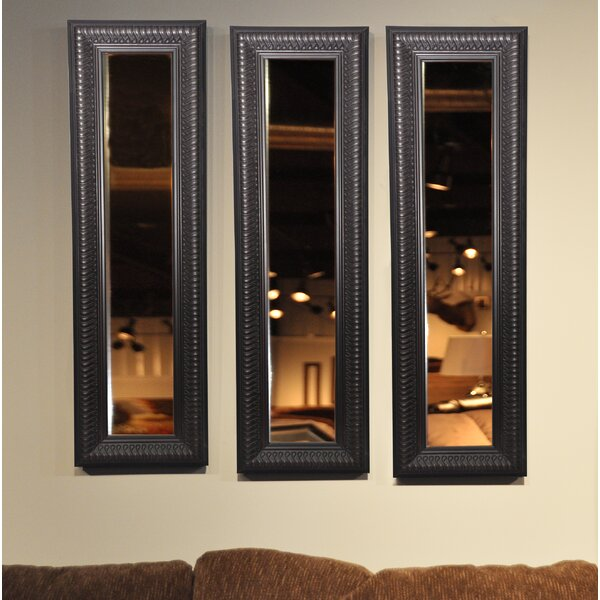 3 Piece Derrill Royal Curve Panels Mirror Set (Set of 3) by Astoria Grand