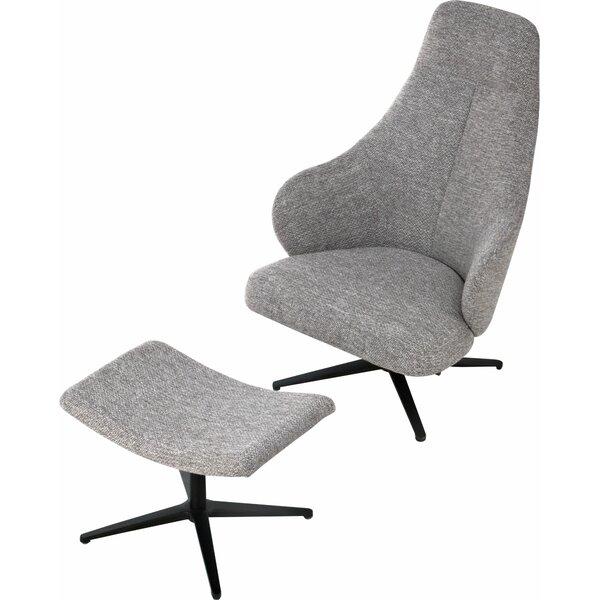 Bradhurst Lounge Chair by Modloft Black