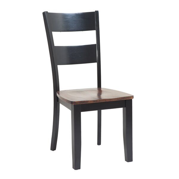 Jesenof Ladder Back Solid Wood Dining Chair by Red Barrel Studio