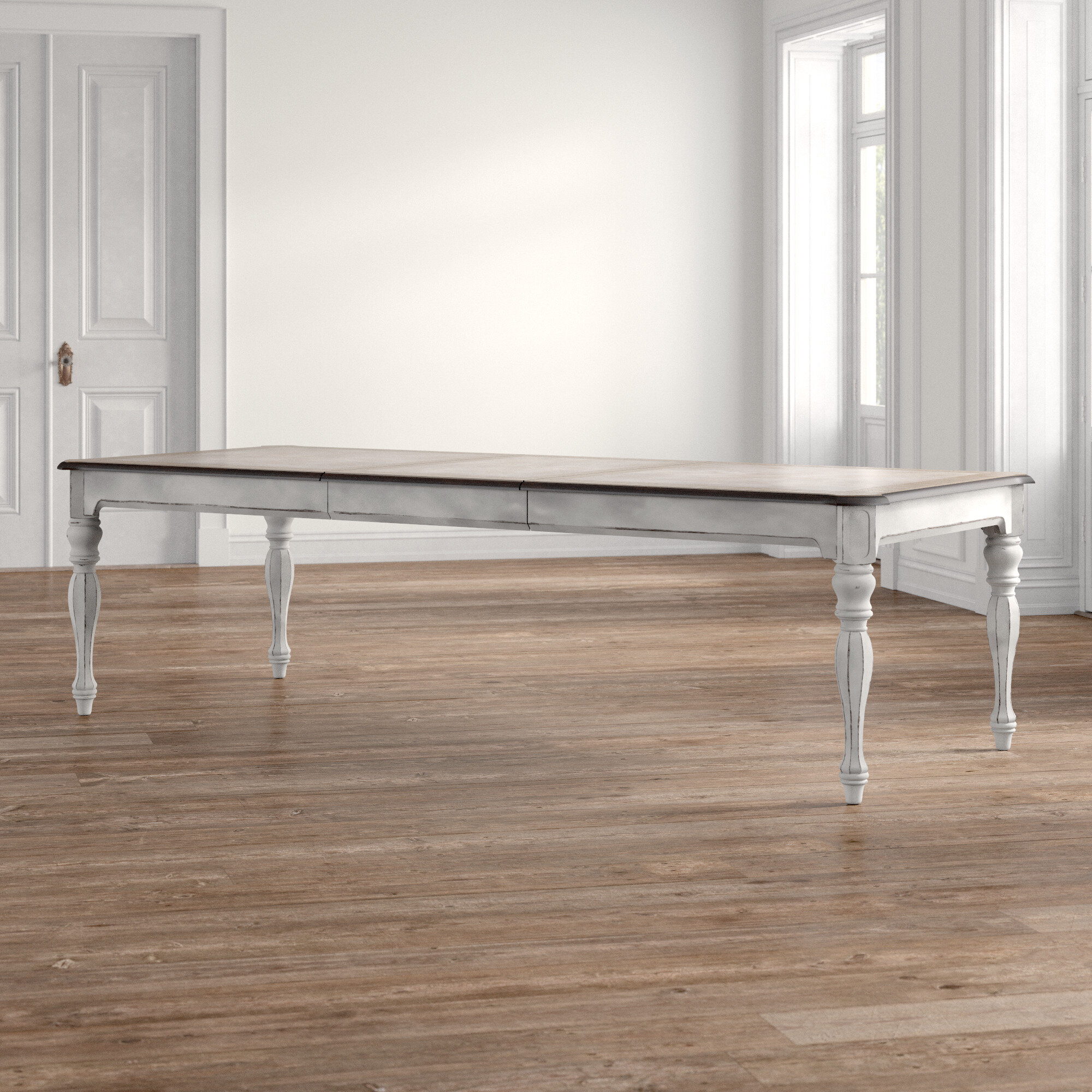 Kelly Clarkson Home Tiphaine Extendable Dining Table Reviews Wayfair