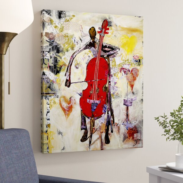 In The Groove Print On Canvas In Red Yellow By Latitude Run.