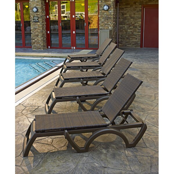 Dolly Reclining Chaise Lounge (Set of 2) by Bay Isle Home Bay Isle Home
