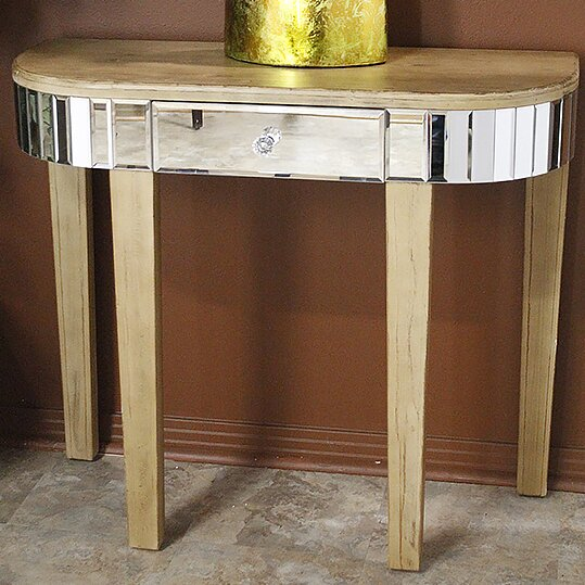 Review Elnora Mirrored Console Table