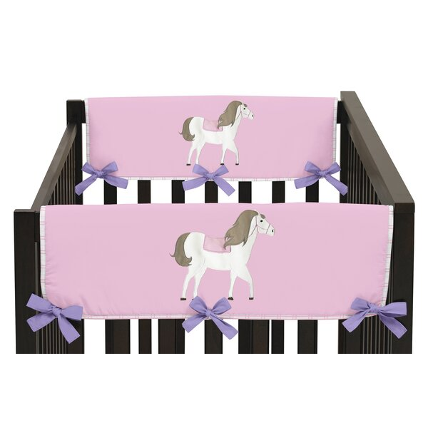 Pretty Pony Side Crib Rail Guard Cover (Set of 2) by Sweet Jojo Designs