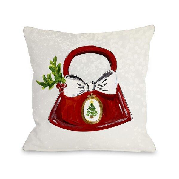 Glitzmas Bag Throw Pillow by One Bella Casa