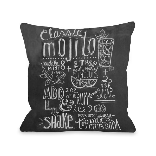 Classic Mojito Throw Pillow by One Bella Casa