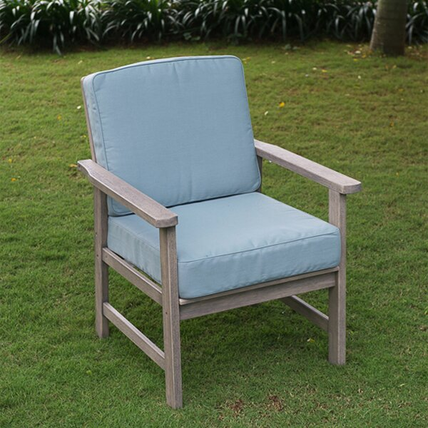 Englewood Patio Chair with Cushions (Set of 2) by Beachcrest Home Beachcrest Home