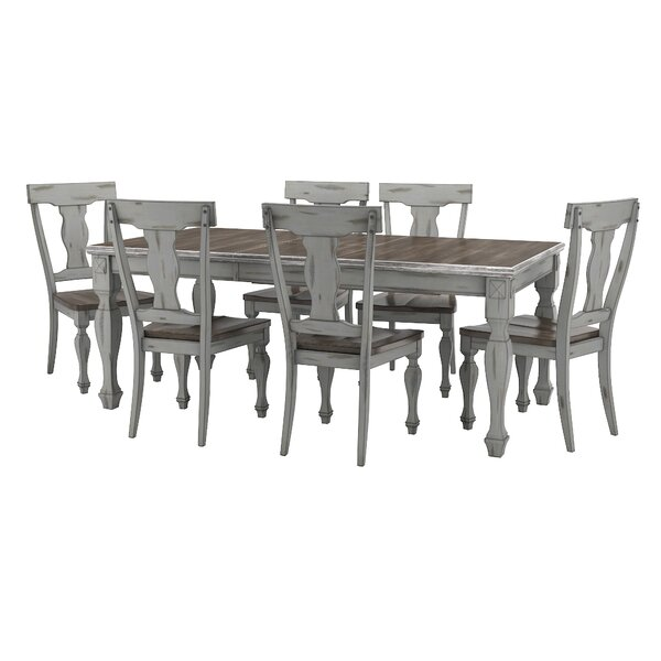 Nathalie 7 Piece Extendable Solid Wood Dining Set by Lark Manor