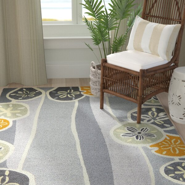 Zenas Neutral Hand-Woven Gray Indoor/Outdoor Area Rug by Highland Dunes
