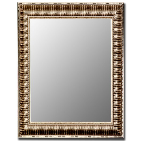 Cameo Ribbed Anique Framed Wall Mirror by Hitchcock Butterfield Company