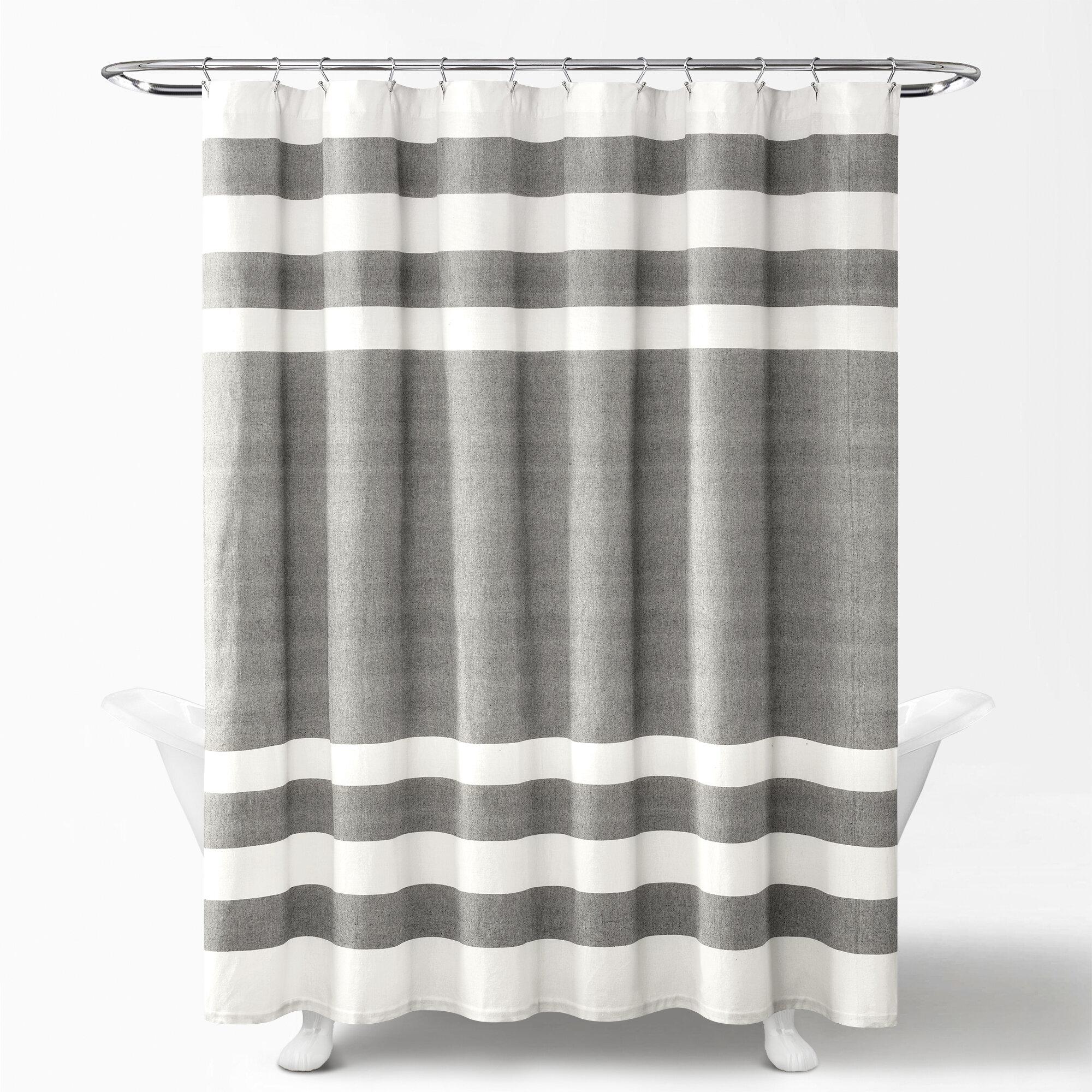 Sorensen Yarn Dyed 100 Cotton Single Shower Curtain