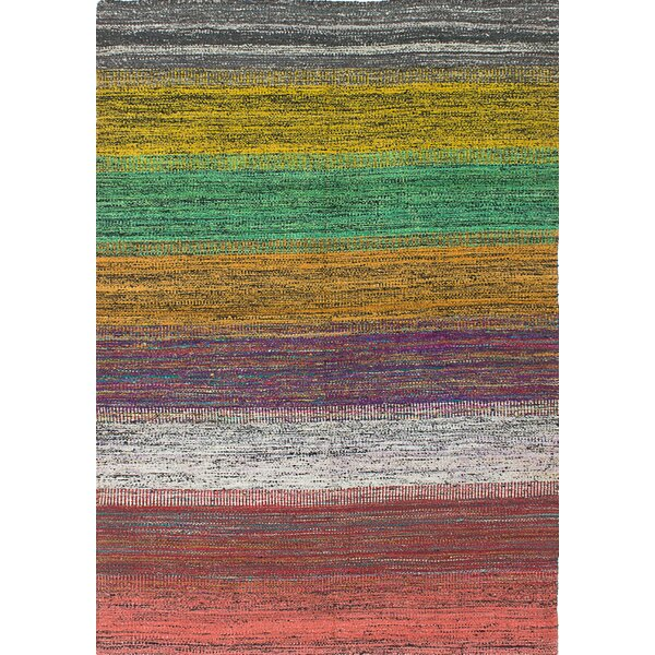 Cowden Hand-Woven Green/Yellow Area Rug by World Menagerie
