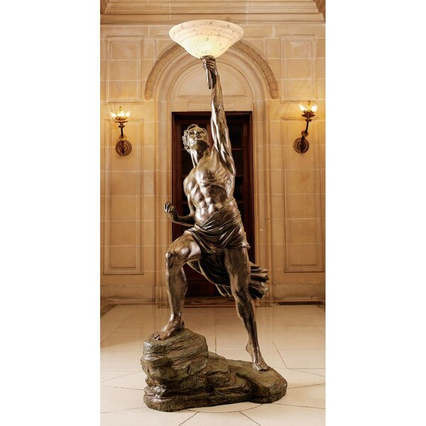 Prometheus 74 Torchiere Floor Lamp by Design Toscano