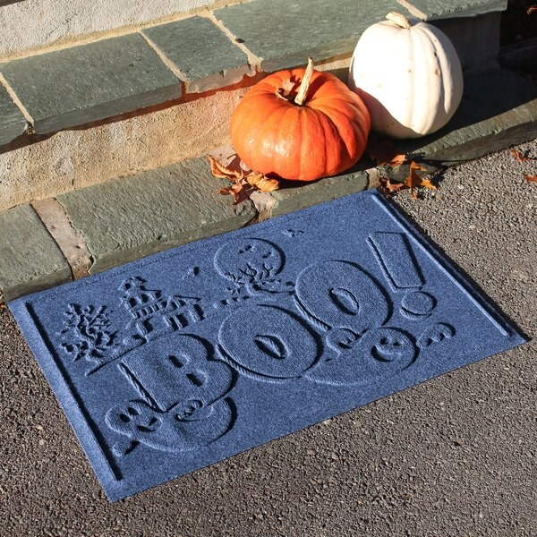 Aqua Shield Boo Ghost Doormat by The Holiday Aisle