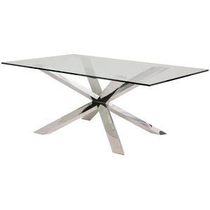 rebecka glass dining table