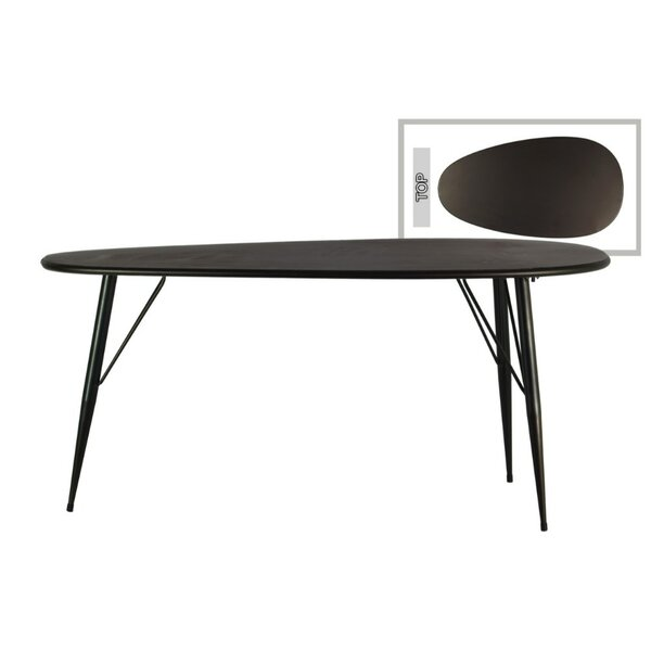 Kale Metal Oval End Table by George Oliver