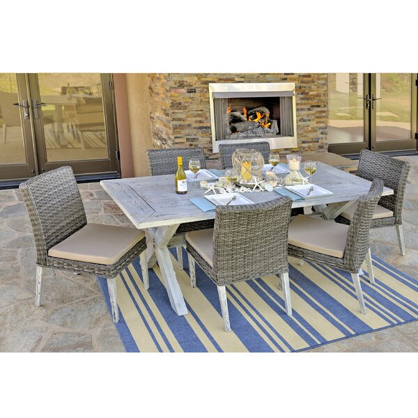Lindmere Garden 7 Piece Dining Set with Cushions by W Unlimited