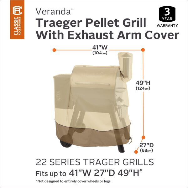 Croteau Pellet Grill Cover - Fits up to 34 by Red Barrel Studio