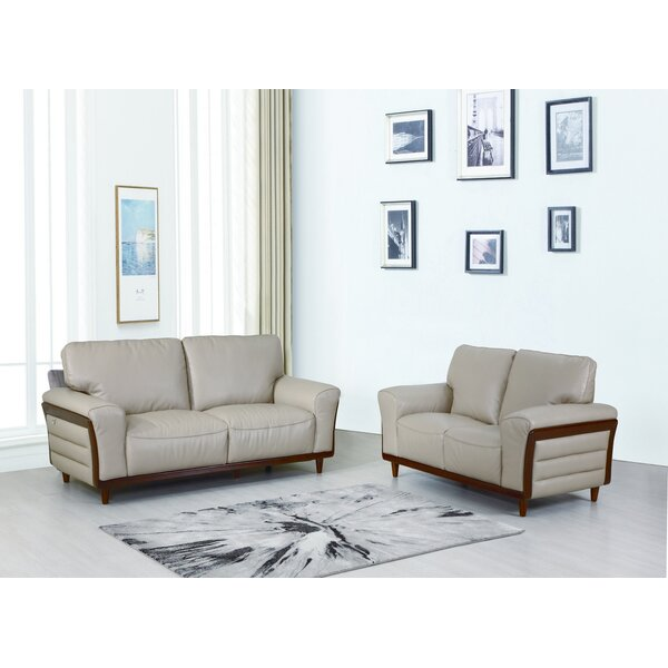 Toussaint 2 Piece Leather Living Room Set by Latitude Run