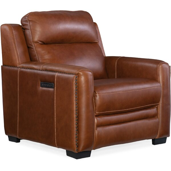 Aviator Leather Power Recliner By Hooker Furniture