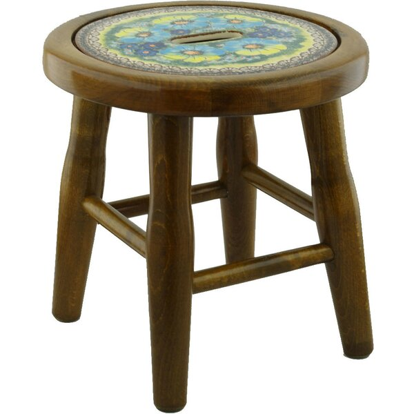 Sweet Emotions Polish Pottery Accent Stool by Polmedia