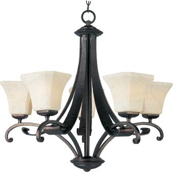 Darby Home Co Cottrell 5 Light Shaded Chandelier Wayfair
