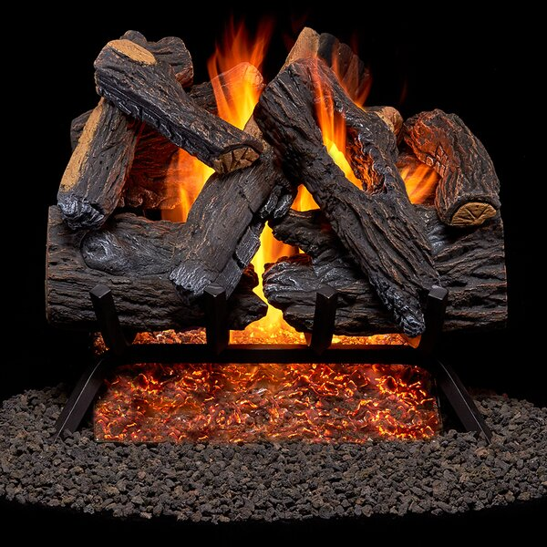 Heartland Oak Vented Natural Gas Fireplace Log Set By Duluth Forge