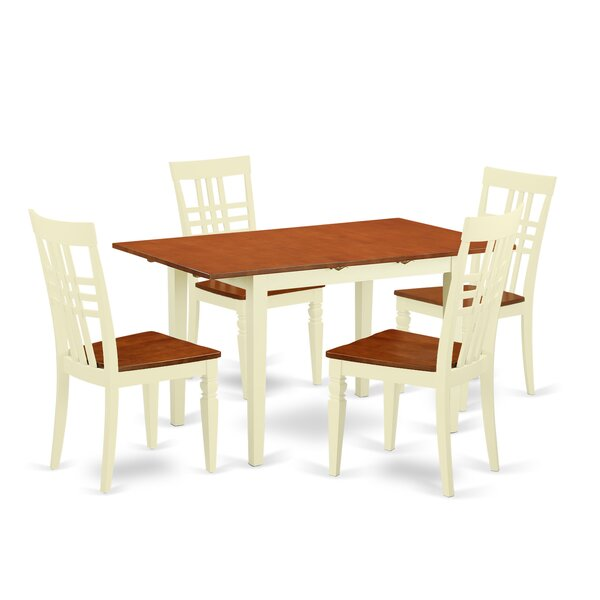 Balfor 5 Piece Extendable Solid Wood Dining Set by Andover Mills